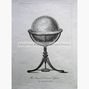 Antique Print The Improved Celestial Globe C.1814 Prints