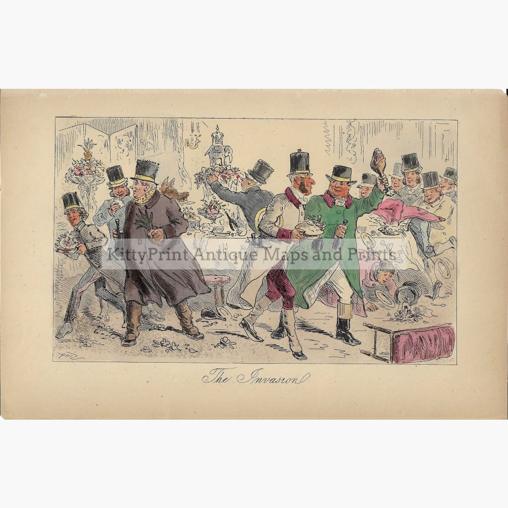 Antique Print The Invasion 1880 Prints