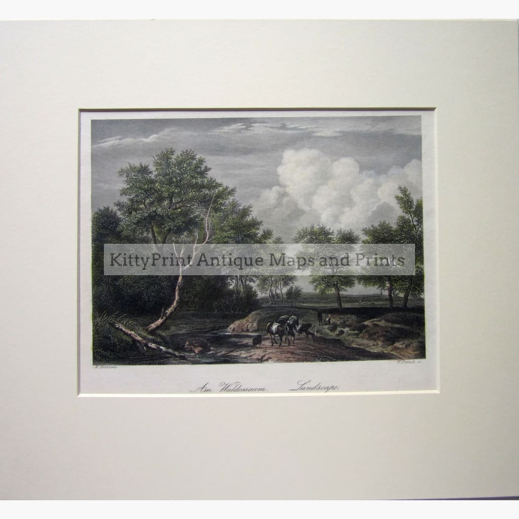 Antique Print The Landscape c.1840 Prints