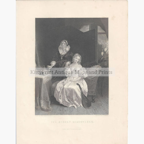 Antique Print The Secret Discovered 1841 Prints