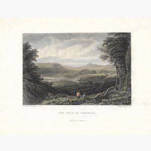 Antique Print The Vale of Lonsdale 1831 Prints