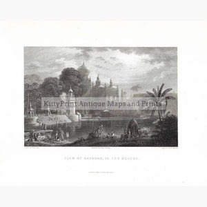 Antique Print View of Sassoor in the Deccan 1834. Prints