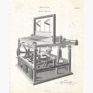Antique Print Weaving 1814 Prints
