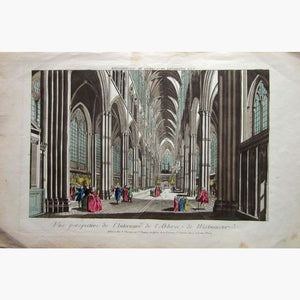 Antique Print Westminster Abbey Interior Perspective 1760 Prints