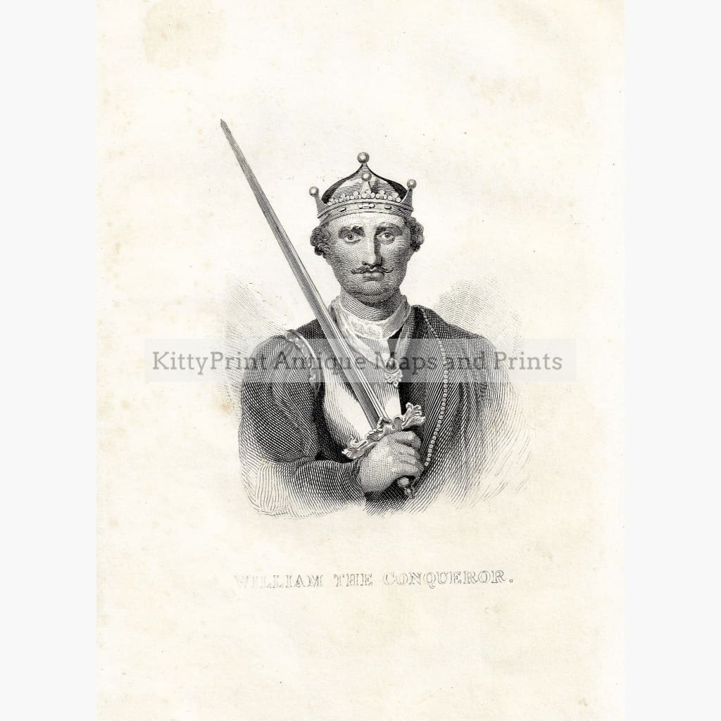 Antique Print William the Conqueror c.1840 Prints
