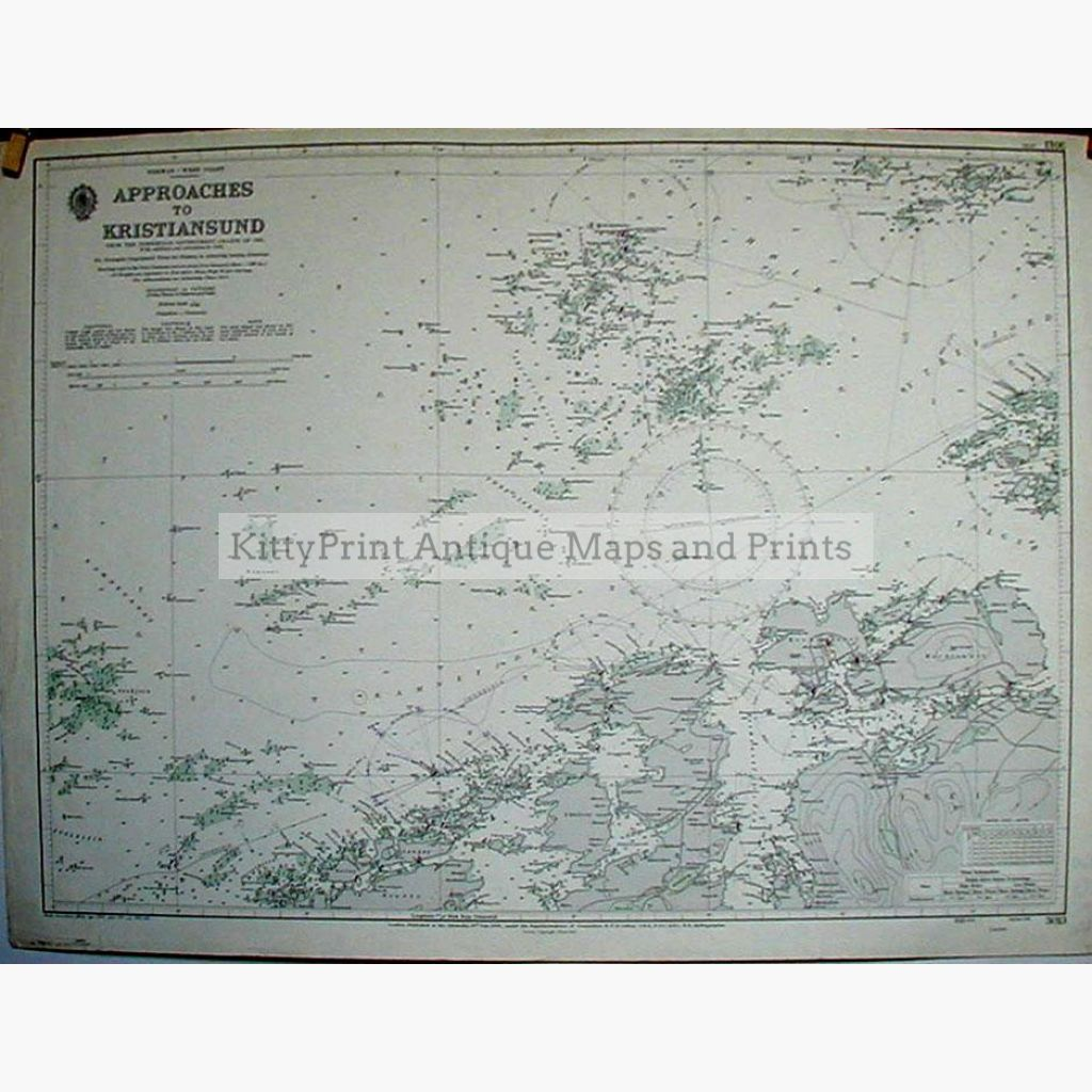 Approaches To Kristiansund Norway 1956 Maps