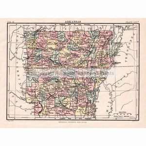 Arkansas C.1889 Maps