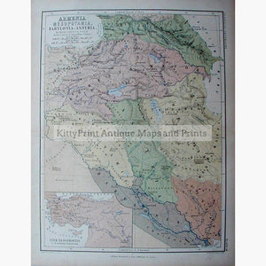 Arabia egypt maps kittyprint armenia mesopotamia babylonia assyria 1868 maps kittyprint 1800s arabia egypt asia regional maps biblical maps gumiabroncs Choice Image
