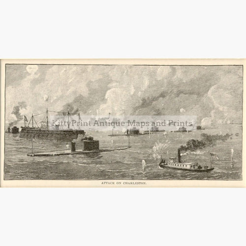 Attack On Charleston C.1880 Prints