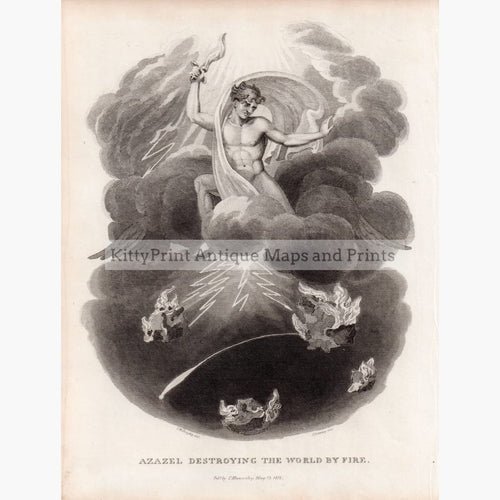Azazel Destroying The World By Fire 1816 Prints