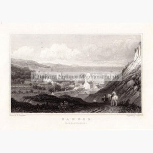 Bangor Caernarvonshire c.1840 Prints KittyPrint 1800s Townscapes Wales