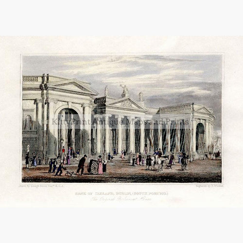 Bank of Ireland Dublin c.1840 Prints KittyPrint 1800s Castles & Historical Buildings Ireland
