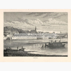 Belgrad 1875 Prints KittyPrint 1800s Eastern Europe Genre Scenes Townscapes