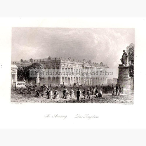 Berlin The Armoury c.1850 Prints KittyPrint 1800s Castles & Historical Buildings Genre Scenes Germany