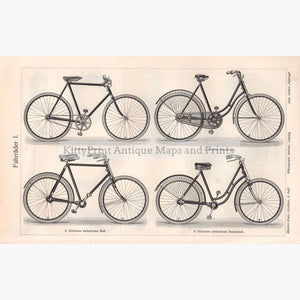 Bicycles Fahrrader 1906 Prints