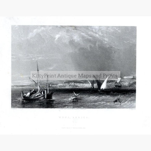 Bona Africa (Annaba Algeria) 1836 Prints KittyPrint 1800s Africa Seascapes Ports & Harbours