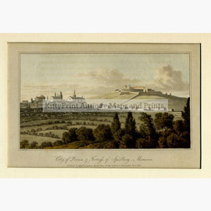 Brno City of Brinn Fortress of Spielberg 1818 Prints KittyPrint 1800s Castles & Historical Buildings Eastern Europe Townscapes