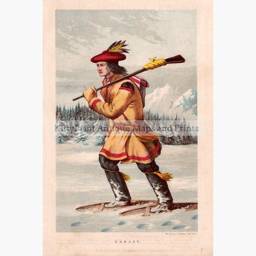 Canadian Man 1860 Prints KittyPrint 1800s Canada & United States Costumes & Fashion