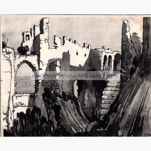 Capri by Gennaro Favai  c.1930 Prints KittyPrint 1900s Italy Landscapes