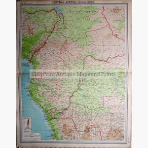 Central Africa-Western Section 1922. Maps
