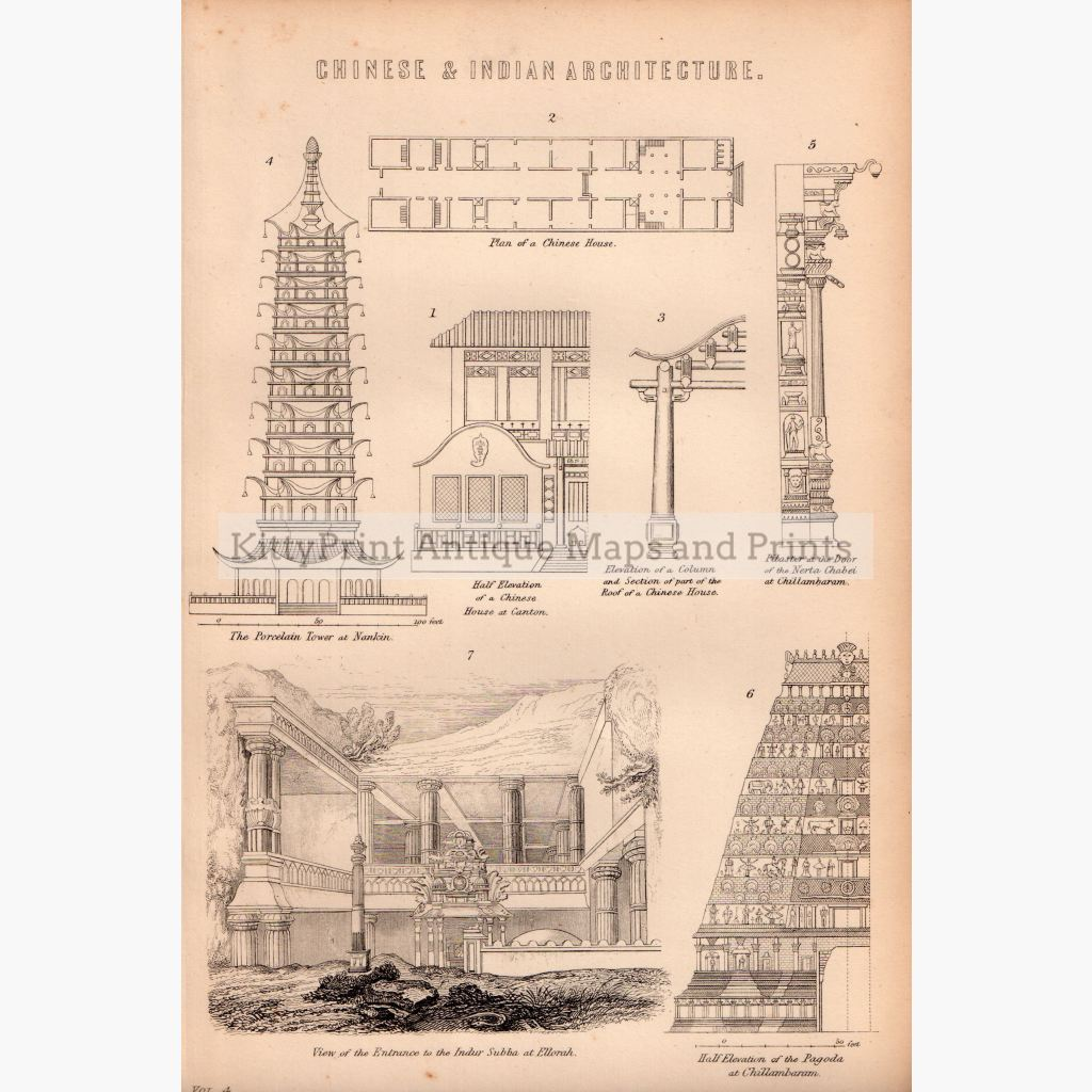 Chinese & Indian Architecture 1881 Prints