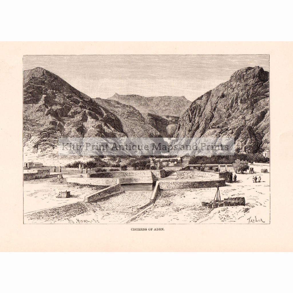 Cisterns Of Aden 1886 Prints