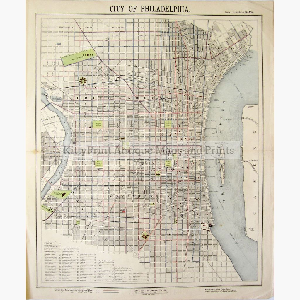 City Of Philadelphia 1886. Maps