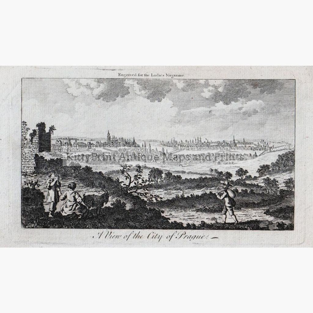 City Of Prague 1726 Prints