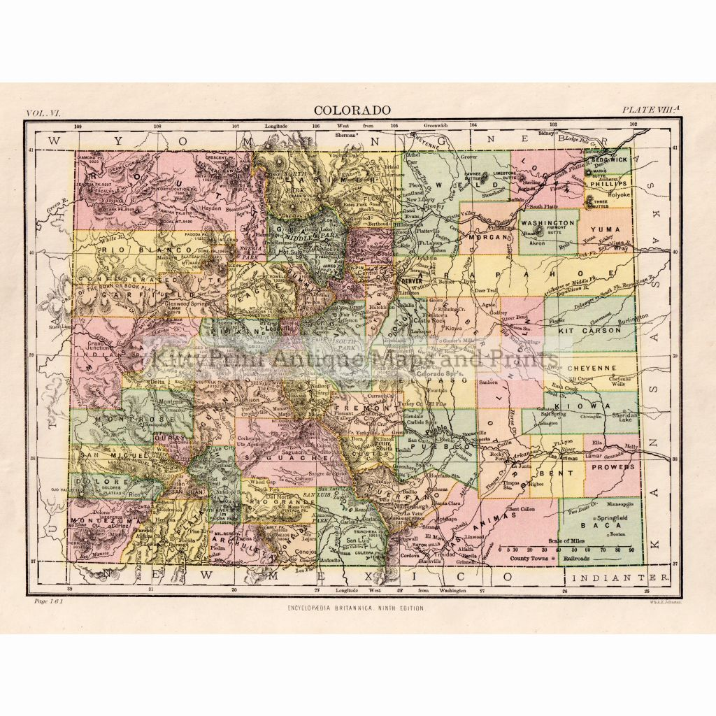 Colorado C.1889 Maps