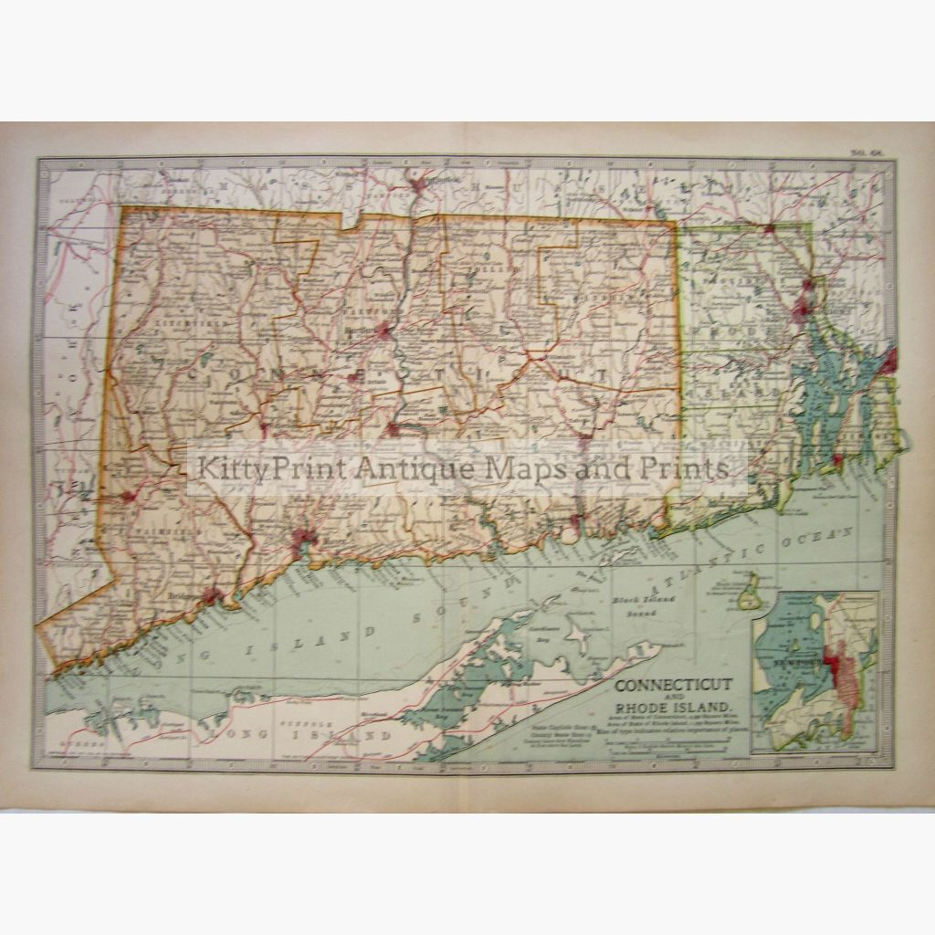 Connecticut And Rhode Island 1902 Maps
