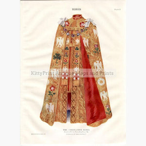 Coronation Robes as worn by King Edward VII printed in c.1920 Prints KittyPrint 1900s Costumes & Fashion