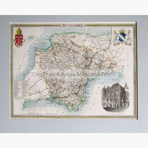 Devonshire By Thomas Moule 1840 Maps