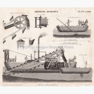 Dredging Apparatus 1818. Prints