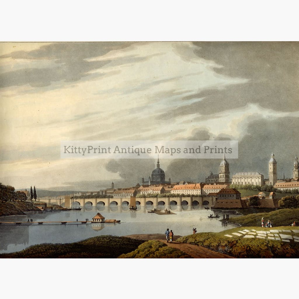 Dresden 1815 Prints KittyPrint 1800s Germany Townscapes