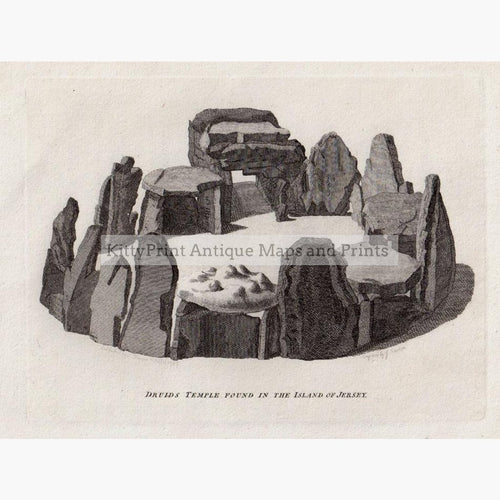Druids Temple found in the Island of Jersey 1787 Prints KittyPrint 1700s Castles & Historical Buildings England Religion