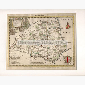 Durham 1764 Maps KittyPrint 1700s England