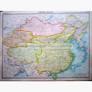 Eastern China Political 1922 Maps KittyPrint 1900s China Japan & Korea