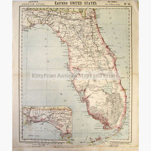 Eastern United States 1883 Maps