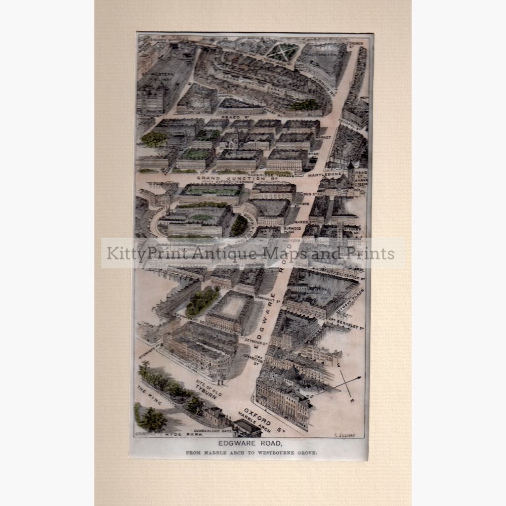 Edgware Road 1881 Maps