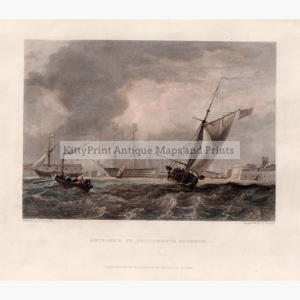 Entrance To Portsmouth Harbour 1842