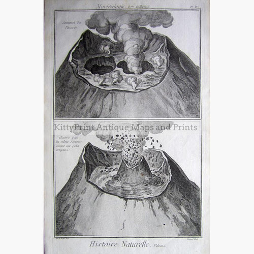 Eruption 1768 Prints KittyPrint 1700s Italy Volcanoes