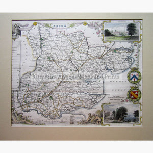 Essex By Thomas Moule 1840 Maps