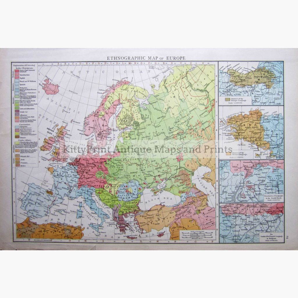 Ethnographic Map Of Europe 1895 Maps