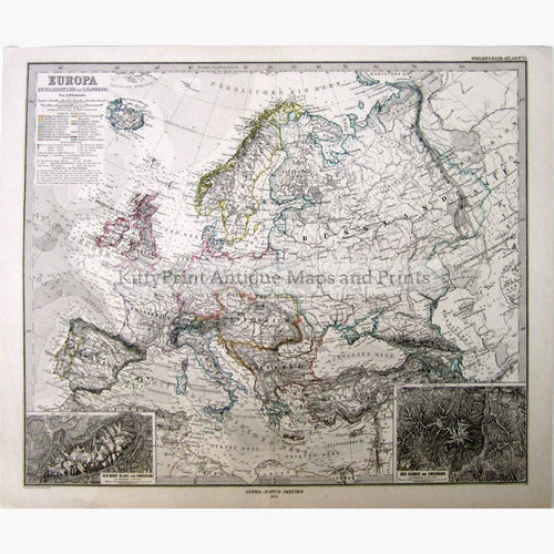 Europe 1876 Maps KittyPrint 1800s Europe Regional Maps Population Statistics