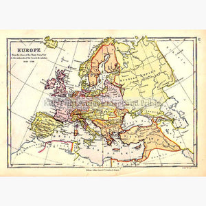 Europe from the close of the Thirty Years War c. 1875 Maps KittyPrint 1800s Europe Regional Maps Military