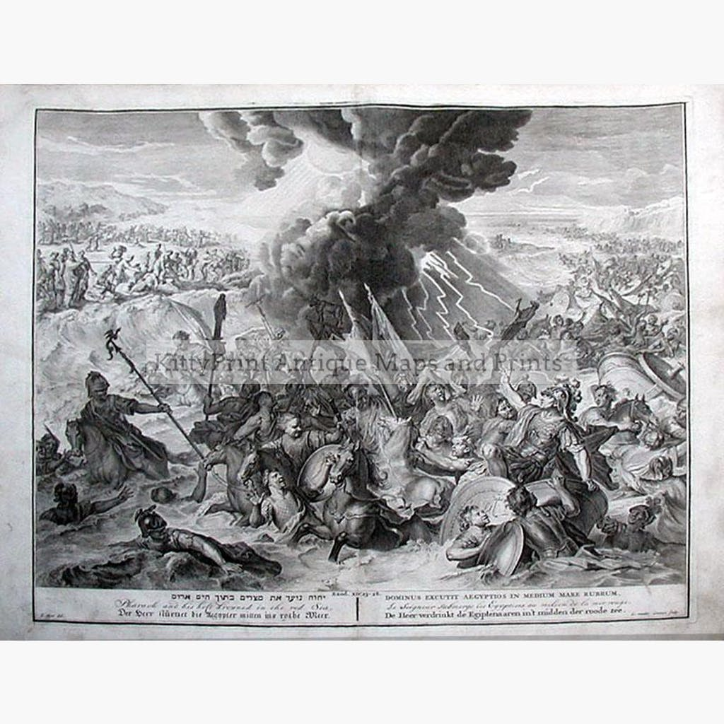 Exodus The Red Sea 1728 Prints KittyPrint 1700s Religion
