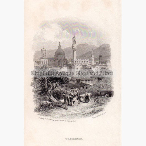 Florence 1832 Prints KittyPrint 1800s Italy Townscapes
