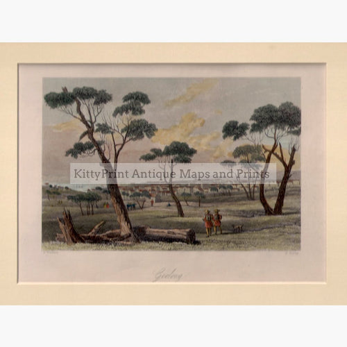 Geelong c.1860 Prints KittyPrint 1800s Australia & Oceania Townscapes