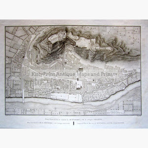 General Plan of the city of Murviedro and of the antique Sagunto 1801 Maps KittyPrint 1800s Spain & Portugal Town Plans