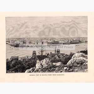 General View of Havana,1875 Prints KittyPrint 1800s Central & Latin America Islands Seascapes Ports & Harbours Townscapes